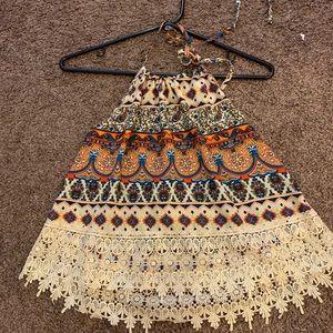 PAC sun festival top never worn